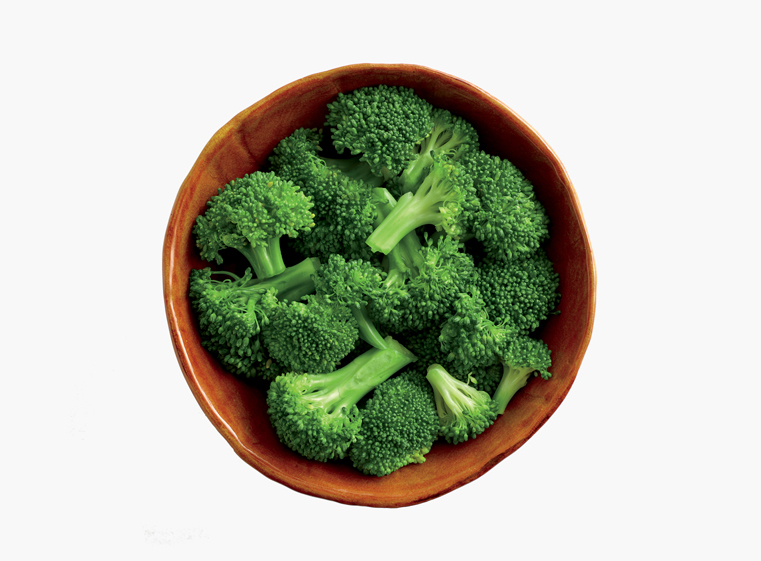 Bowl of freshly steamed broccoli