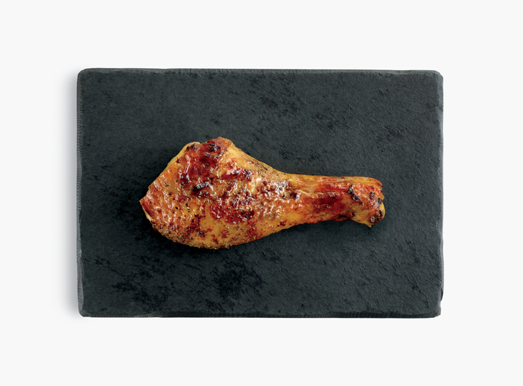 One fire-grilled chicken leg