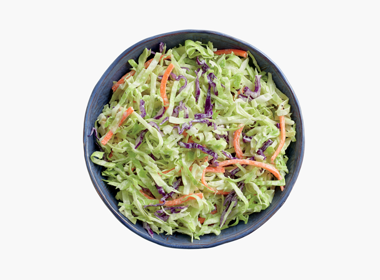 Bowl of house-made coleslaw