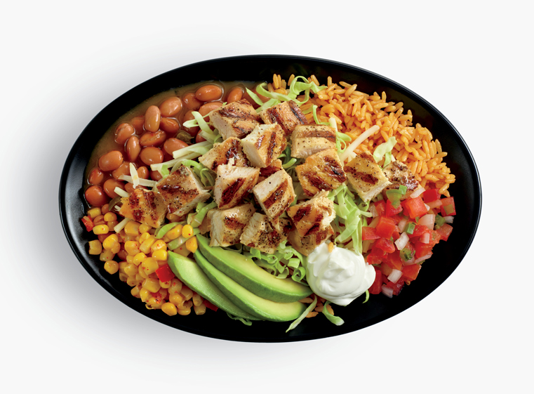 Grande Avocado Chicken Bowl with dollop of sour cream