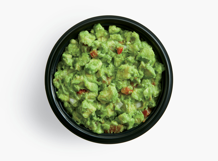 Open container of house-made guacamole