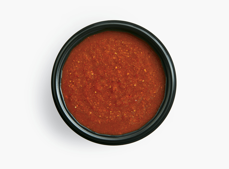 Side ramekin of salsa roja