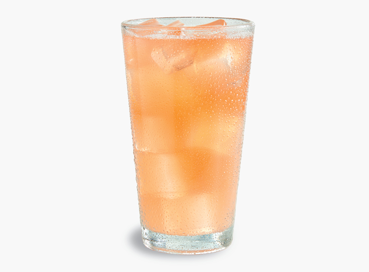Glass of Minute Maid Strawberry Lemonade on ice