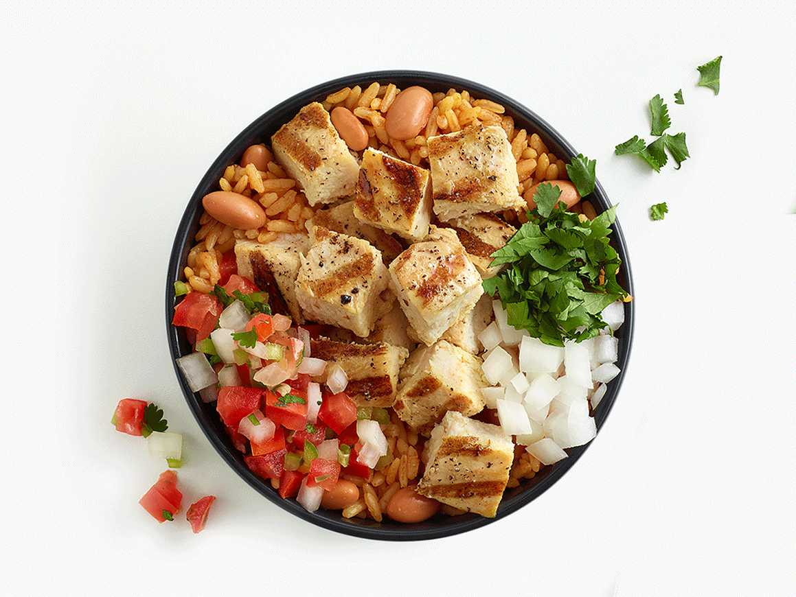 Original Pollo Bowl sprinkled with cilantro