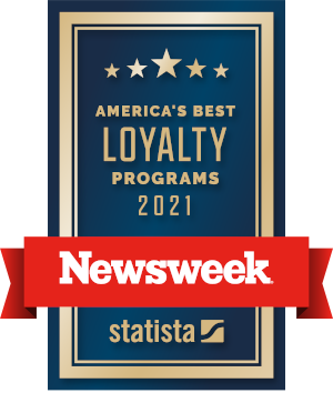 Voted among America's Best Loyalty Programs 2021 by Newsweek statista poll.