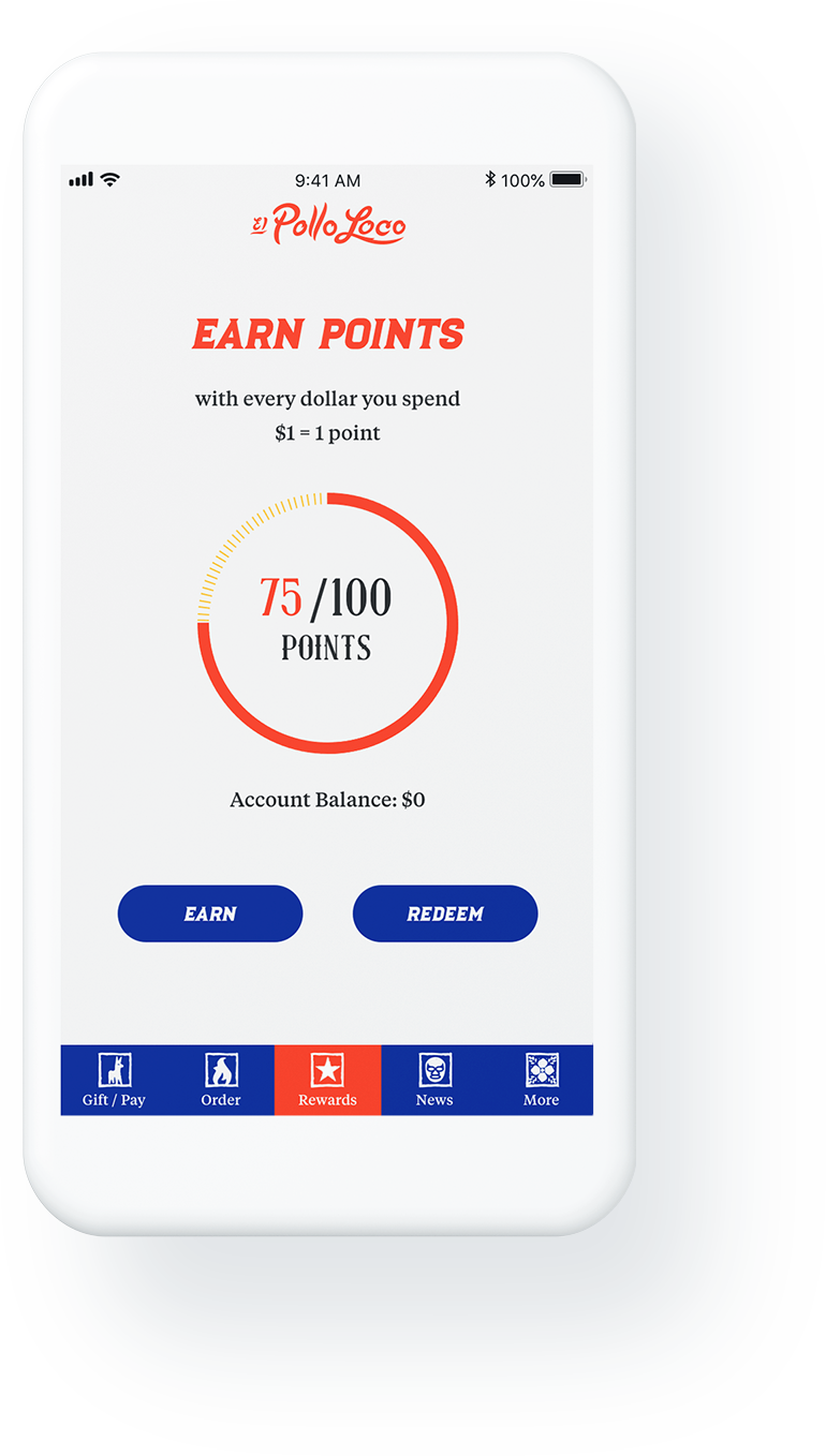 Loco Rewards Mobile application - Earn points screen